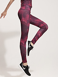 Running Pants / Tights / Bottoms Women's Breathable / Quick Dry / Stretch / Compression / Sweat-wicking Terylene Yoga / Fitness / Running