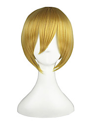Cosplay Wigs Vocaloid Kagamine Len Golden Short Anime Cosplay Wigs 36 CM Heat Resistant Fiber Male / Female