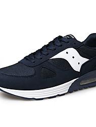 sapatos masculinos pu sapatilhas da forma ocasional andando outros salto planas preto / azul / vermelho