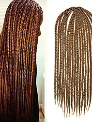 "Light Brown Senegal Crochet Twist Small Box Braid 24"" Kanekalon 3 Strands 80g Hair Braids"