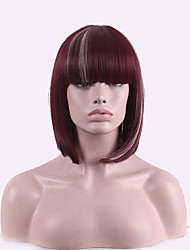 Euramerican Manufacturer Direct Selling Foreign Trade Net Short Wig Fuxia Highlights Rice White Lady's Wig