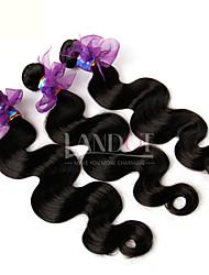 "3Pcs Lot 8-28"" Eurasian Virgin Hair Body Wave Wavy Natural Black 5A Human Hair Weave Bundles Tangle Free Hair Extensions"