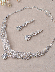 Angel Wings Series Crystal Necklace Set