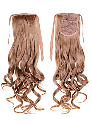 High Quality 1PC Synthetic Ponytails Extension 50cm 22inch 100g #27 Dark  Heat Resistant Fiber Curly Wavy