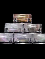 2g / коробка хром зеркало порошок пыли пигмента магия алюминия ногтей блестки блестит поделки украшения ногтей инструменты
