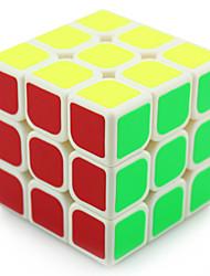 Yongjun® Cube velocidade lisa 3*3*3 Velocidade / profissional Nível Cubos Mágicos Preta / Branco Plástico