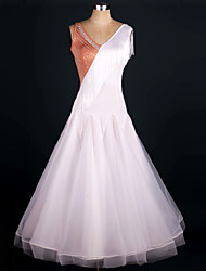 Tenue(Fuchsia Violet,Satin soyeux élastique Organza,Danse moderne)Danse moderne- pourFemme Rushé Spectacle Danse de Salon Taille moyenne