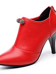 Women's Shoes Leatherette Fall Heels Heels Wedding / Party & Evening Stiletto Heel Sparkling Glitter Black / Red