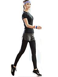 XAOYO® Calça com Camisa para Ciclismo Mulheres Vestível Moto Fundos Tosão Exercicio e Fitness Primavera / Verão / Outono