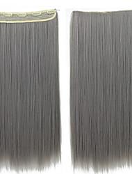 Com Presilha Sintético Extensões de cabelo 120 60 Alongamento