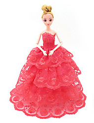 Universal (Excluding Baby) No. 4 Clothes Wedding Dress Full Bag Big Skirt Trailing Wedding Design 30 Cm Doll Skirt