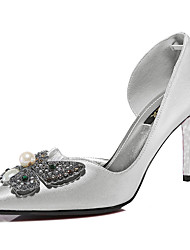 Women's Shoes Glitter Spring / Summer /Fall/Winter Heels Wedding / Party & Evening / Casual Stiletto Black/Silver