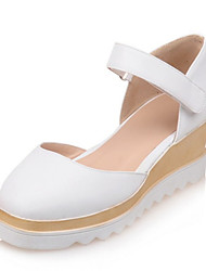 Women's Shoes Leatherette Spring / Summer / Fall Wedges Heels Wedding / Party & Evening / Dress