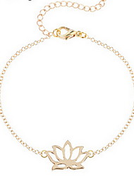 Kimiing Gold/Silver Lotus Flower Shape Chain Bracelet Jewelry
