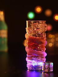 1pc colorido color creativo pub al azar ktv llevó la luz de la noche de la lámpara LED drinkware