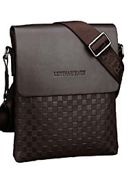 Men Bags Fall PU Shoulder Bag with for Shopping Casual Outdoor Office & Career Black Coffee