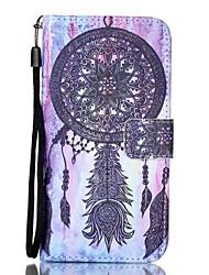 EFORCASE® Black Campanula Painted Lanyard PU Phone Case for LG K10/K8/K7/K4/G5