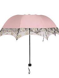 Casamento / Diário Renda / Terylene Guarda-chuva Handle post 25.6polegadas (Aprox.65cm) Plástico 35.4polegadas (Aprox.90cm)