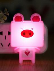 gelb großen Kopf Cartoon Lichtsteuerung Sensor LED-Nachtlicht-Lampe angeschlossen