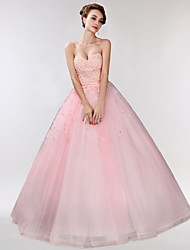 Formal Evening Dress Ball Gown Sweetheart Floor-length Tulle with Appliques