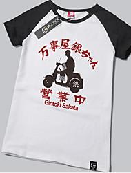 Ispirato da Gintama Gintoki Sakata Anime Costumi Cosplay Cosplay Tops / Bottoms Con stampe Manica corta T-shirt Per Unisex