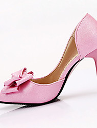 Women's Shoes Leather Summer Heels Heels Casual Stiletto Heel Others Pink / White / Fuchsia