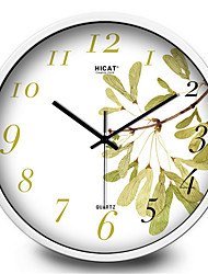 Elegant Garden Leaves Bedroom Living Room Mute Quartz Wall Clock