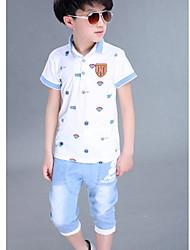 Katoen-Zomer / Lente-Boy's-T-shirt / Short-Print
