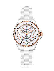 Women's Fashion Watch Quartz Japanese Quartz Casual Watch Ceramic Band White Brand