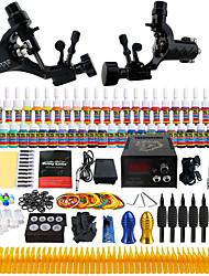 Kit de tatouage complet 2 Machine à tatouage x alliage pour la doublure et l'ombrage 2 Machines de tatouage LCD alimentationEncres
