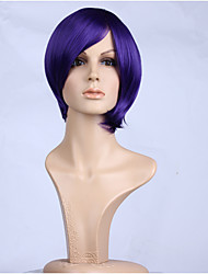 Natural Purple Color Popular Straight Synthetic Wig For Woman