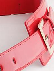 patente couro moda das mulheres faixa elástica
