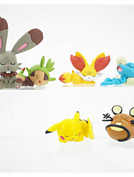Pocket Little Monster Various Monsters and Pika Pika Clay 3~5cm Height Anime Action Figures