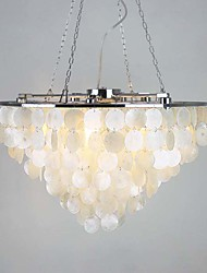 Modern Classic Ceiling Lights with Shell Shades, Living room Bedroom Dining Room Bar Cafe Hallway Balcony