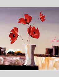 Peint à la main A fleurs/Botanique Peintures à l'huile,Traditionnel / Réalisme / Méditerranéen / Pastoral / Style européen / Modern /