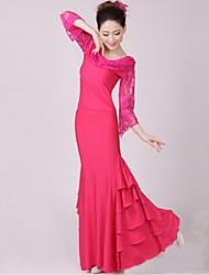 Vestidos(Rosa,Espándex,Baile de Salón) -Baile de Salón- paraMujer Drapeado Representación
