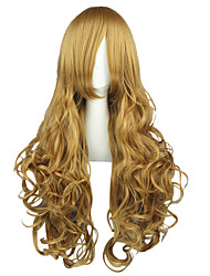 Cosplay Wigs Code Gease Nunnally.vi.Britainia Brown Long Anime Cosplay Wigs 90 CM Heat Resistant Fiber Male / Female