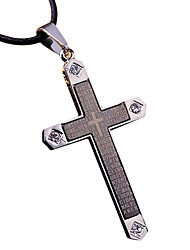 Cross Necklace Titanium Cool Mosaic Crystal Necklace