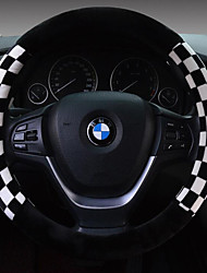 Winter Squares Plush Car Steering Wheel Set The Set Of Short Plush Steering Wheel Set Number