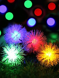 Solar Fairy String Lights 10m/33ft 60 LED Chuzzle Ball Decorative Gardens, Lawn, Patio, Christmas Trees, Weddings