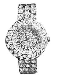 Women's Fashion Watch Quartz Japanese Quartz Casual Watch Stainless Steel Band Sparkle Silver Gold