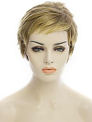 Natural Short Blonde Color Popular Curly Synthetic Wig For Woman