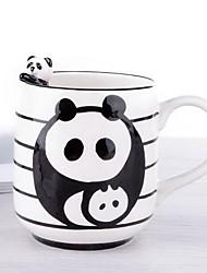 a vaca panda copo tridimensional