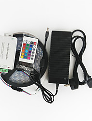 ZDM™ 5 M 120 5050 SMD RGB Waterproof 144W RGB Strip Lights EU/UK/US/AU Power Supply(AC100-240V)