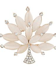 moda de alta qualidade mulheres requintados opala árvore broches bouquet de casamento