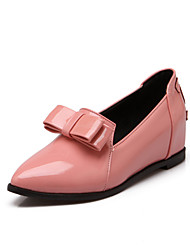 Women's Shoes Patent Leather Summer/ Pointed Toe Flats Office & Career / Casual Flat Heel BowknotBlack / Blue / Pink /