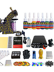 pedal de aço inoxidável cor energia equipamento mini-kit máquina de tatuagem bobina (lidar com cor entrega aleatória)