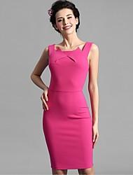 Baoyan® Women's U Neck Sleeveless Above Knee Dress-160179