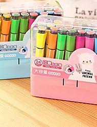 Bolígrafo Bolígrafo Plumas del color de agua Bolígrafo,Plástico Barril Colores Aleatorios colores de tinta For Suministros de la escuela