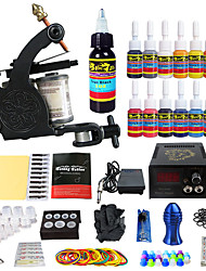 Kit de tatouage complet 1 machine de tatouage x alliage pour la doublure et l'ombrage 1 Machines de tatouage Source d'alimentation LED